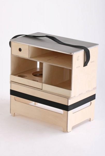 Mobile Outdoorküche in verschiedenen Ausführungen - Ohne Lackierung