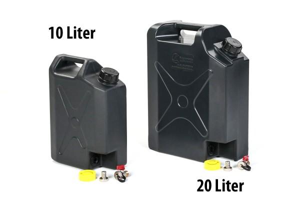Kunststoff Wasserkanister - Wassertank mit Ausgusshahn 20L oder 10L