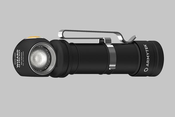 Taschenlampe, Stirnlampe, ARMYTEK WIZARD C2 PRO MAX MAGNET USB, F06701C