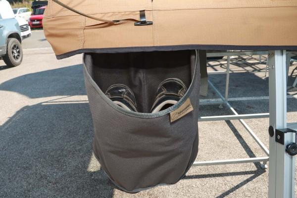 Schuhtasche für Dachzelte, ohne Deckel, grau