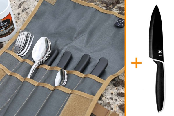 Tool Roll Hungry Edition, inkl Campingbesteck