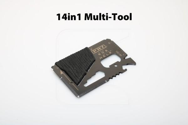 14in1 Multi-Tool im Scheckkartenformat